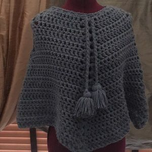 Shawl hand knitted